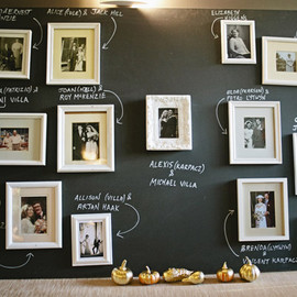 Evelyn Clark - chalkboard photo display wedding