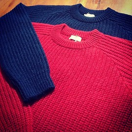 NAISSANCE - 15A-NSA-KN-05 CREW NECK KNIT RED