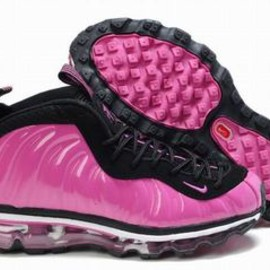 2012 nike air foamposite one max 2009 pink black for women