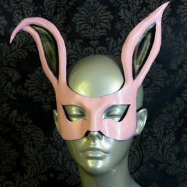 kmickel - Pink Rabbit Leather Mask
