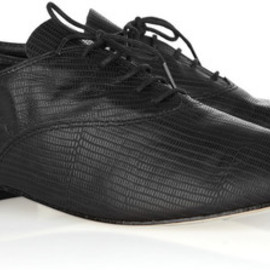 Repetto - Repetto Zizi snake-effect leather Oxford shoes