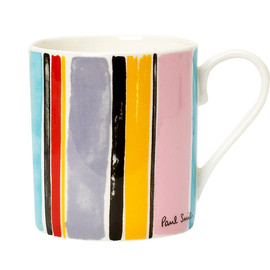 Paul Smith - Paint Effect Multi Stripe Mug
