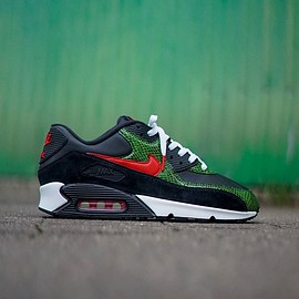 NIKE, theoze - Air Max 90 QS - Green Python Custom