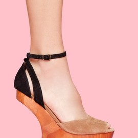 Nasty Gal - Str8up Platform - Colorblock Suede