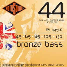 Rotosound - RS 445LD Bronze Bass - Acoustic Bass 44 Phosphor Bronze, 5 strings set.
