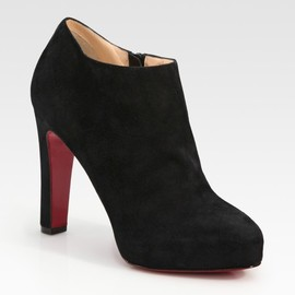 Christian Louboutin - Vicky Suede Platform Ankle Boots