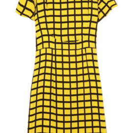 MARNI - Marni checked crepe dress