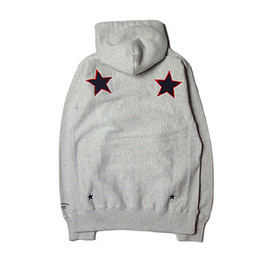 "UNRIVALED - UNRIVALED×M&M ""Basic Star Zip Parka"" OATMEAL"