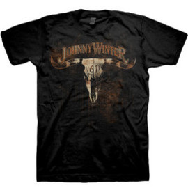 JOHNNY WINTER / COW SKULL HWY 61 / T-Shirts Tシャツ ジョニー・ウィンター