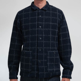 SON OF THE CHEESE - ORALE SHIRTS(NAVY CHECK)