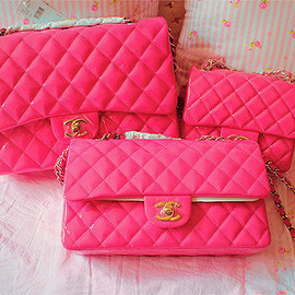 CHANEL - bright pink.