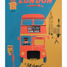 Clare Phillip - London 'All Aboard' - Poster