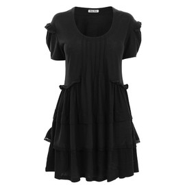 miu miu - Jersey Tiered Short Sleeve Dress