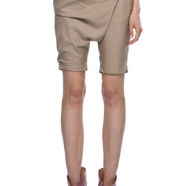 MM6 - Draped Shorts in Beige