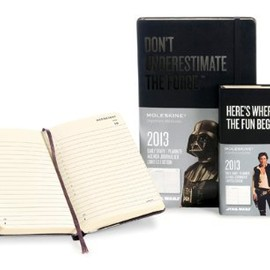 MOLESKINE - Moleskine 2013 12 Month Star Wars Limited Edition Daily Planner Black Hard Cover Large