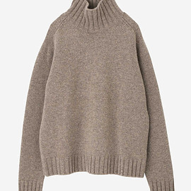 STUDIO NICHOLSON - ENGLISH LAMBSWOOL FIVE GAUGE HIGH NECK JUMPER