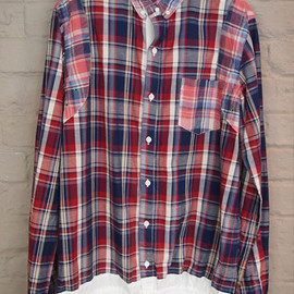 sacai - Plaid Drawcord Shirt/RED×RED