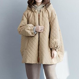 Cotton oversized Winter clothes, Comfortable maternity padded coat, Long Hooded cloak coat