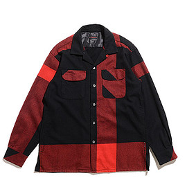 ENGINEERED GARMENTS - Classic Shirt-Big Plaid Worsted Wool Flannel-Black