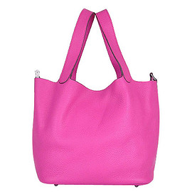 Hermes - Hermes Picotin Lock PM Basket Bag With Peach Leather