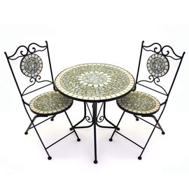 Marvell - Cracked Pearl Mosaic Bistro Set of 3