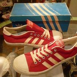 "adidas - 「<deadstock>70's adidas Match red/white""made in TAIWAN"" W/BOX size:26.5cm 8500yen」完売"