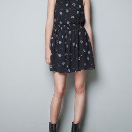 ZARA - SKULL PRINTED DRESS