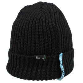 BLUE LUG - *BLUE LUG* reversible knit cap (black)
