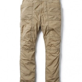 nonnative - RIDER PANTS - COTTON MIX WEATHER PARAFFIN COATED