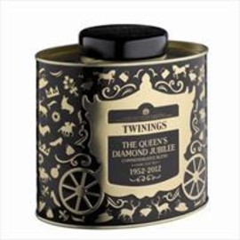 Twinings -  Twinings Diamond Jubilee Tea Caddy - Black