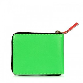 COMME des GARCONS - Super Fluoro Zip-Around wllet green
