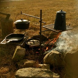 camp cooking set up - camp cooking set up