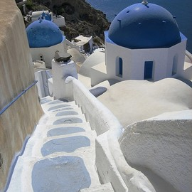 Stairway, Santorini, Greece by patacancha, via Flickr