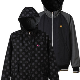 FRED PERRY - Reversible Parka :BLACK