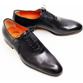 Santoni - Santoni black plane toe shoes