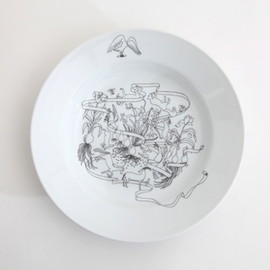 PASS THE BATON - Goat&Wolf  Remake tableware deep plate