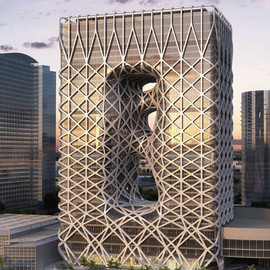 マカオ - City of Dreams hotel in Macau by Zaha Hadid