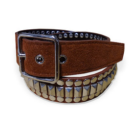 PEEL&LIFT - ingot studs belt-title.LTD/brown