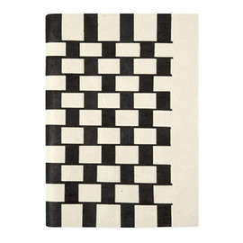 Woven - Black and White Notebook by Tudi Billo and Johannes Hemann