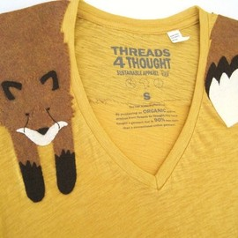 Wrapped Fox T-shirt in Butternut, size M