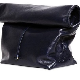 JIL SANDER - JIL SANDER Nuzzi -Nappa Leather Lunch Bag