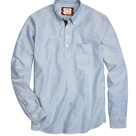 Brooks Brothers - Solid Oxford Popover Sport Shirt