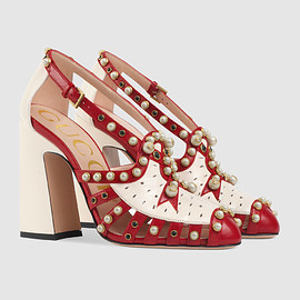 GUCCI - Gucci Studded leather pump Detail 2