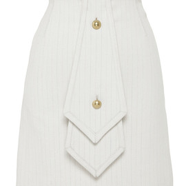 J.W. ANDERSON - SS2015 Beige And Multi Striped Double Tie Skirt