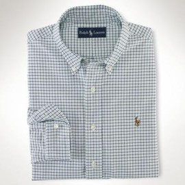 POLO RALPH LAUREN - Custom Fit Tattersall Oxford Shirt in Blue for Men