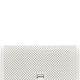 PROENZA SCHOULER - White Perforated Small Lunchbag Clutch