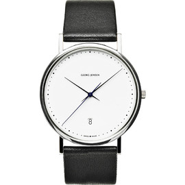 GEORG JENSEN - large watch with date and second hand