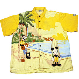 Disney - Walt Disney World Mickey/Goofy/Donald/Pluto Hawaiian Shirt Mens Size XXL