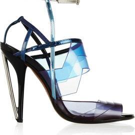 FENDI - Leather and PVC sandals