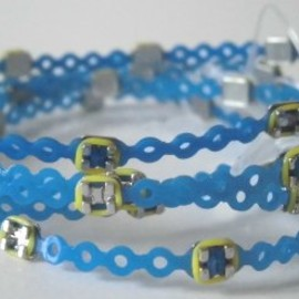 Braced Lets - Braced Lets  (ブレスレッツ)   歯科矯正 ブレスレット  :     ブレスレット ブレスレッツ  矯正器具ブレスレット (blue&yellow)  6本購入で一個プレゼント